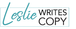 Leslie Writes Copy Logo