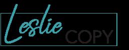 Leslie Writes Copy Logo